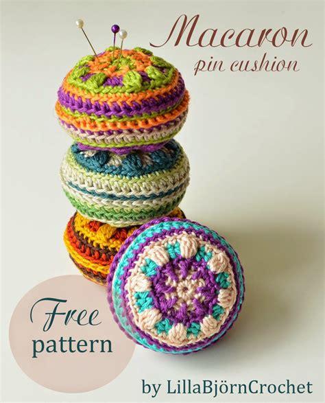 Macaron Pin Cushion  Free Pattern!  Lillabjörn's Crochet
