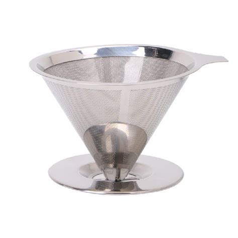 Get contact details & address of companies manufacturing and supplying stainless steel strainers, ss strainer across india. Stainless Steel Mesh Coffee Filter Paperless Pour Over Cone Dripper Reusable-in Colanders ...