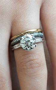which metal is mixed with gold to make ornaments 100 With spacer between engagement ring and wedding band