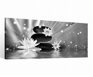 Bilder Feng Shui Steine : leinwand 1 tlg schwarz wei steine feng shui wellness bilder seerose blume 9c127holz fertig ~ Whattoseeinmadrid.com Haus und Dekorationen