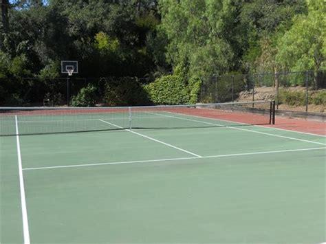 backyard tennis court tennis courts backyard games landscaping network