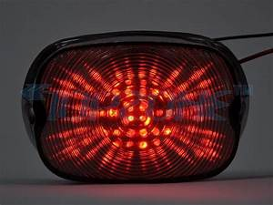 Led motorcycle tail light sequential turn signal for harley davidson in brake lights from