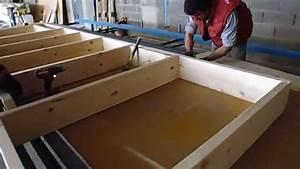 fabrication panneaux a ossature bois youtube With faire un garage en bois