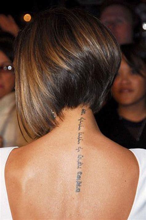 victoria beckhams neck tattoo tribute  david continues