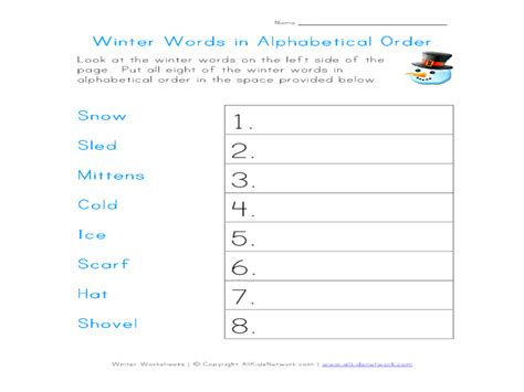 You can place any list you have into the tool text area in a variety of formats and it will put it into alphabetical order with one click of your mouse. Worksheets For Putting Words In Alphabetical Order - 1000 ...