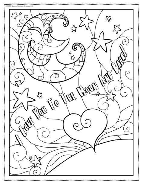 100% free coloring page of the words i love you. I Love You Coloring Page | Love coloring pages, Moon ...
