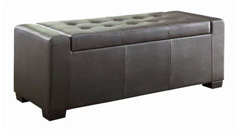 lift top storage ottoman tigard lift top storage ottoman from homelegance 4603pu