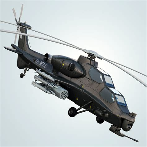 Max Wz 10 Armed Helicopter China