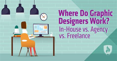 freelance design work where do graphic designers work in house vs agency vs