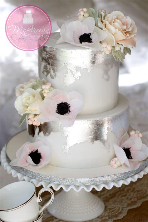 antique silver leaf tutorial  mcgreevy cakes
