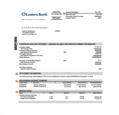 sample bank statement  documents   word excel