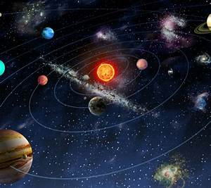 Solar System Space Wallpaper Wall Mural - Your Cosy Home