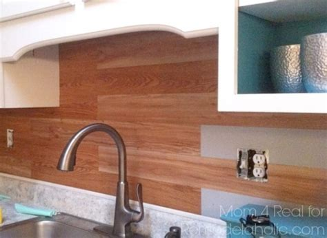 hometalk plank kitchen backsplash  peel  stick