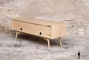 Petit Meuble Bas : petit meuble tv bas scandinave made in france ~ Teatrodelosmanantiales.com Idées de Décoration