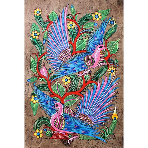 bark paintings collection birds  paradise brk