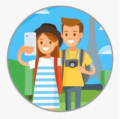 Cartoon Travel Clipart Traveler Traveling Transparent Journaling