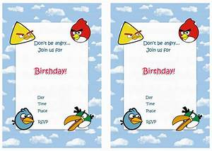 Birthday invitation angry birds invitations superb for Angry birds birthday party invitation template free