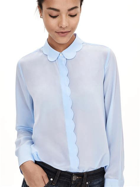 blue blouse banana republic blue blouse silk pintuck blouse