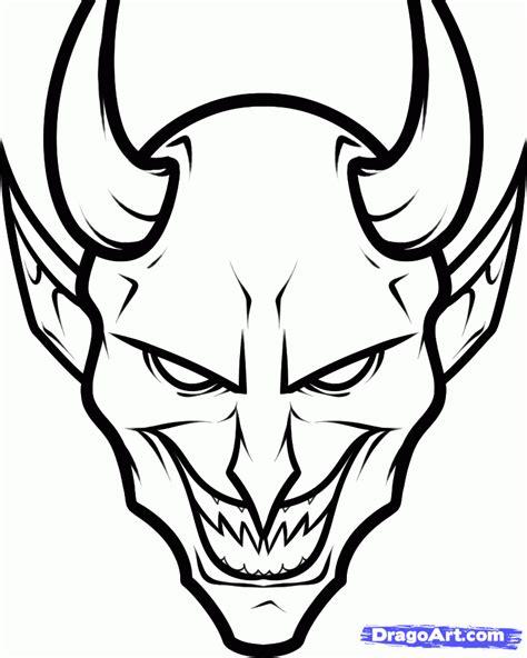 draw  devil face step  step concept art