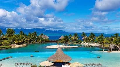 Resort Beach Tropical Pool Summer Landscape Nature