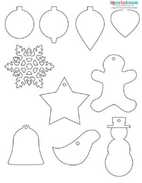 christmas ornaments coloring cut out shapes to print lovetoknow