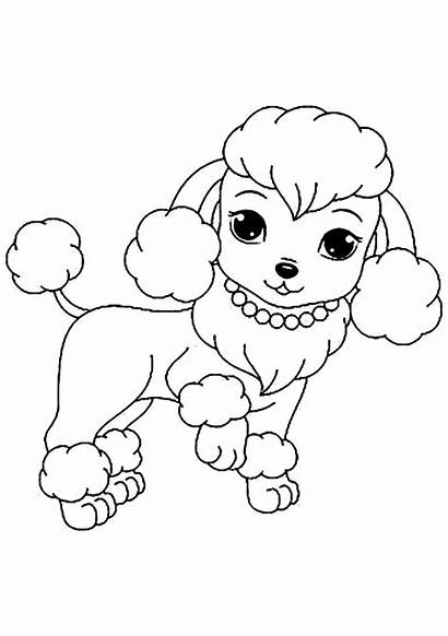 Coloring Dog Dogs Puppy Printable Colouring Chiens