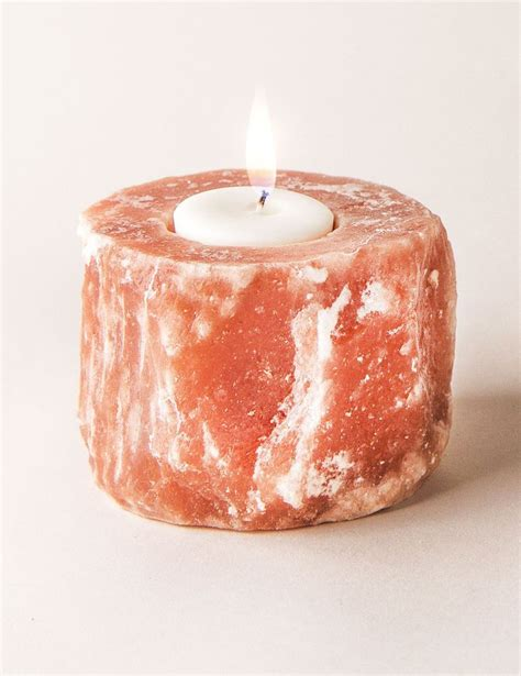 himalayan salt candle holder the 25 best himalayan salt candle holder ideas on