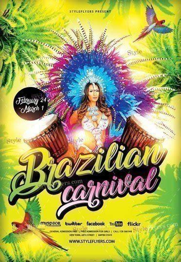 brazilian carnival flyer template brazilian carnival psd flyer template 16546 styleflyers