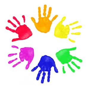 Painted Hand Print Clip Art