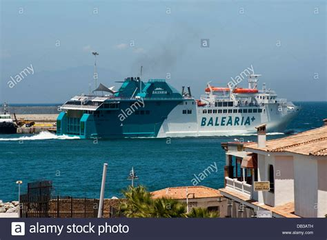Ferry Boat Africa by Balearia Company Ferry Boat Sailing From Ceuta Harbor