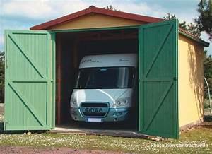 abri jardin chalet bungalow garages ossature en bois With porte de garage pour camping car