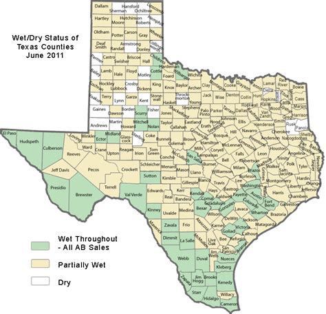 Dry Counties In Texas Map Maping Resources