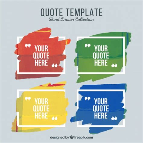 Free Quote Template by Artistic Quote Templates Of Paint Vector Free