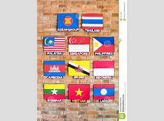 Association Of Southeast Asian Nations Flags Stock Image
