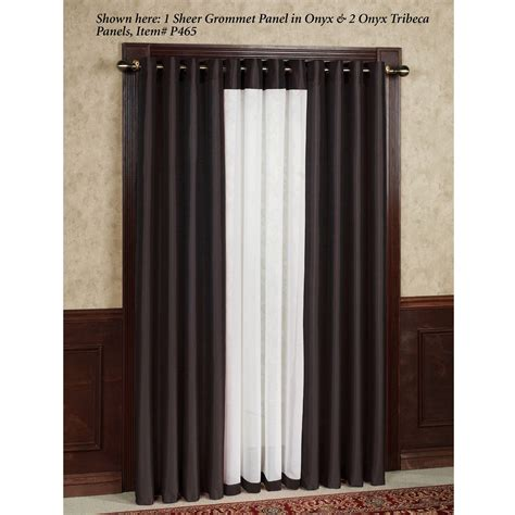 Grommet Curtains With Sheers by Soho Tailored Sheer Grommet Curtain Panels
