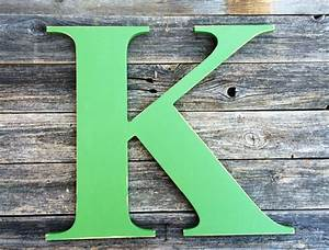 letter k large wooden 24 distressed edges hand painted With big wooden letter k