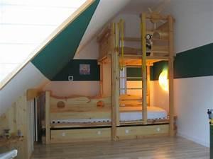 Kinderbett Unter Dachschräge : hochbett selber bauen dachschr ge ~ Michelbontemps.com Haus und Dekorationen