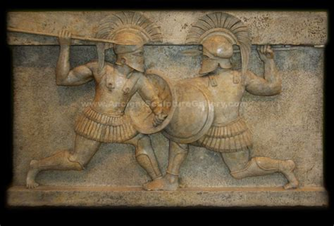 Archaic Spartans Greek Warriors Battle Ancient Greek Sculpture