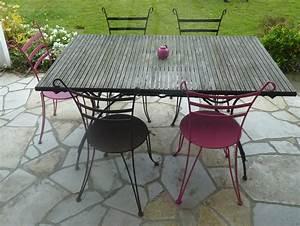 table chaise jardin pas cher With ordinary mobilier de jardin fermob 8 mobilier exterieur fer forge