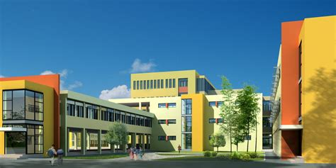 large school building design  cgtrader