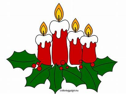 Advent Candles Christmas Candle Clipart Coloring Gingerbread