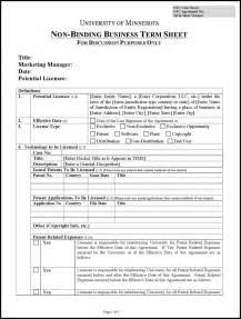 Appointment Sheet Template Word Free Term Sheet Template Word Docx Pdf 3 Page S