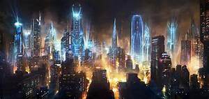 Futuristic Cityscape Wallpaper HD - 52DazheW Gallery