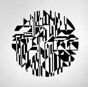 Complex overlapping design #circle #circles #black #white ...