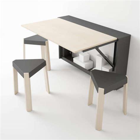 table de cuisine rabattable table murale rabattable en mélaminé block 4 pieds tables chaises et tabourets