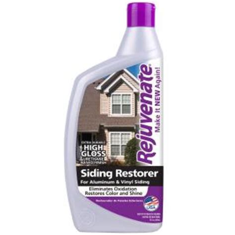 Rejuvenate Floor Cleaner Home Depot by Rejuvenate 32 Oz High Gloss Siding Restorer Rj32srg The