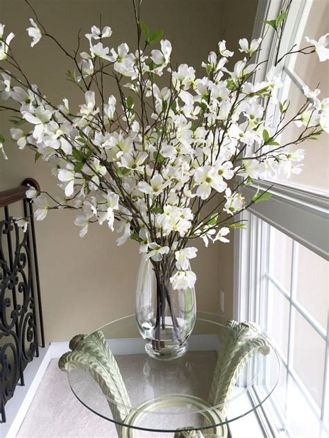 Large Glass Flower Vase by Beautiful Dogwood Branches In Large Glass Vase By
