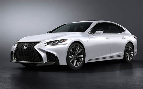 silver lexus 2017 stylish silver car lexus ls 500 f sport 2018 wallpapers