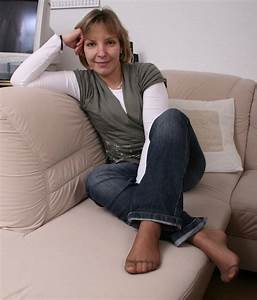 Mature movie sock wearing woman