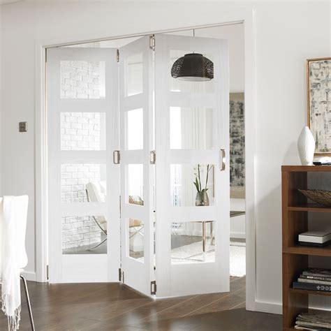 Living Room Doors At B Q by Shaker 4 Panel 4 Lite White Primed Fully Glazed